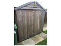 Garden shed wood 6 x 4 feet
