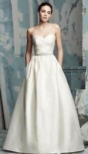 Paloma Blanca Silk Wedding Dress size 12 Floor sample gown