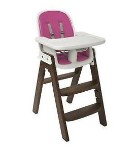 OXO Tot Sprout High Chair - Pink and Walnut