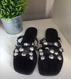 ZARA black studdes sandals