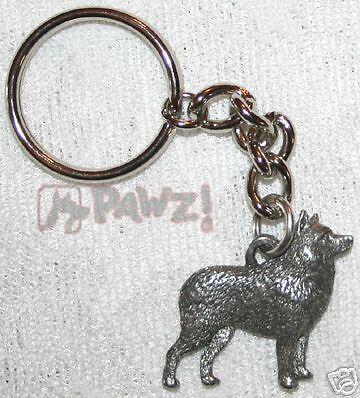 SCHIPPERKE Dog Fine Pewter Keychain Key Chain Ring