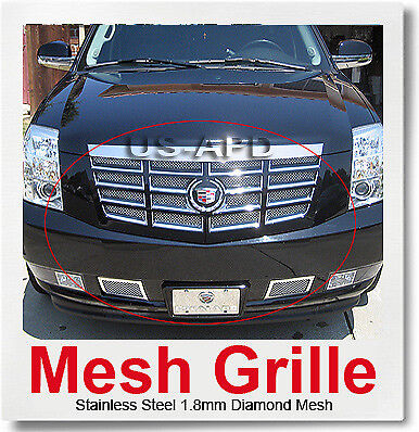 FOR 07-14 2014 2013 2012 Cadillac Escalade Mesh Grille Combo