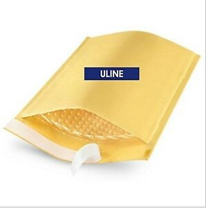 ULINE SELF-SEAL GOLD BUBBLE MAILERS #5
