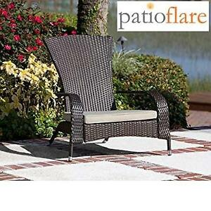 NEW WICKER MUSKOKA CHAIR PF-CH338-BK 248898268 PATIOFLARE  Black/Dark Grey