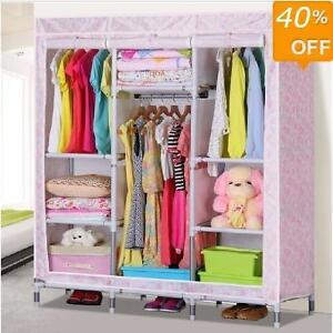Kids wardrobe - Fabric Portable Closet with Shelves - 5 styles
