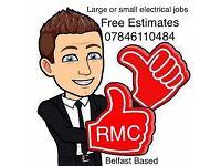 Electrician Belfast , electrical rewiring cooker repairs, emergency electrician 07846110484