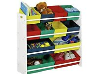 Multi coloured toy storage