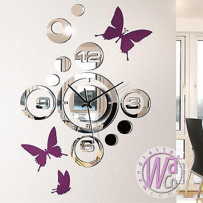 wandtattoos mit uhren g nstig online kaufen bei ebay. Black Bedroom Furniture Sets. Home Design Ideas