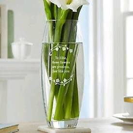 Personalised glass vase