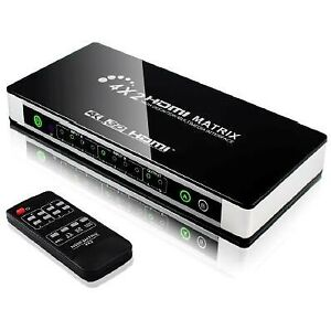 YUNZUO HDMI v1.4 4K*2K Matrix 4x2 (4 inputs 2 outputs) Switcher