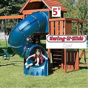 NEW SWING-N-SLIDE 5' TUBE SLIDE WS 3075 200724772 TURBO BLUE OUTDOOR KIDS