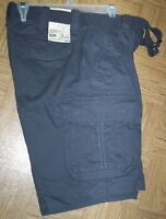 "mens 34"" Denver Hayes chino cargo shorts NWT charcoal"