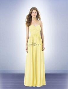 Bill Levkoff Bridesmaid Dress - Size 10 - Canary - Style 386