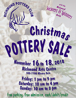 Richmond Potters Club annual Christmas Sale