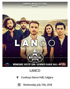 LANCO Tickets for SALE