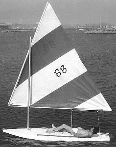 HOME CONSTRUCTED OF MARINE PLYWOOD 12ft SAILBOARD