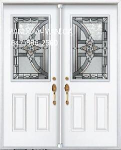 Double Door Entry Front  White