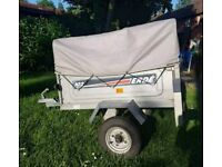 Erde 102 galvanised trailer with extended hight cover