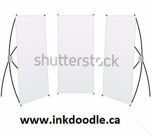 "Trade show banner stand 33"" x 66"" with print and hardware!"