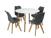 (Grey) 5PC Charles Jacobs Beech Dining Set