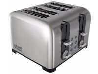 Russell Hobbs 22404 Wide Slot 4 slice Toaster - Stainless Steel