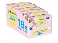 Johnson's Extra Sensitive Baby Wipes 18 pk. Great for babies & adults with sensitive skin