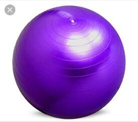 Purple gym ball / birthing ball