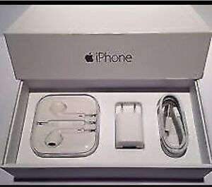 APPLE AUTHENTIC WALL CHARGER LIGHTNING USB EARPHONES SET