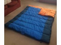 Vango Double Sleeping Bag. Tog rating of 8. can convert into 2 single sized bags.