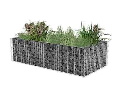 Gabion Planter Galvanised Steel 180x90x50 Plant Bed High Load Extra Stability