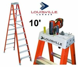 LOUISVILLE 10FT.  Fiberglass Step Ladder  300-Pound Rated