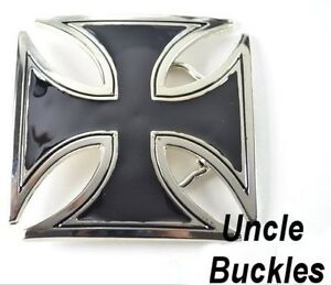 Iron Celtic Cross Skull Cobweb Buckle Biker Tattoo design fix 2 own Belt 4 Style