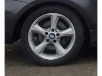 """17"""" bmw alloy wheels 5x120 excellent tyres .. may fit mini mercedese insignia"""