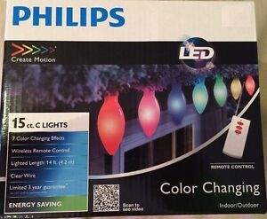 Philips LED Color Changing String Lights w Remote 14ft BRAND NEW