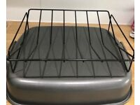 Roasting Pan Roasting Tin With Rack Used Once Perfect Condition RRP £45