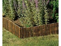 willow style wood twig garden edging / fencing