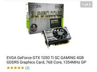 Evga geforce GTX 1050 ti sc graphics gaming card 4gb