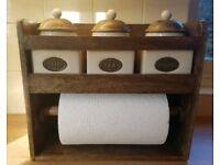tea coffee sugar Kitchen roll holder