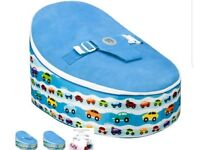 Blue cars bean bag planet baby seat