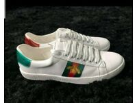 Gucci white REAL leather sneakers 7 - 11 FREE POST