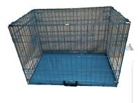 Brand New Blue Small Sized Dog Cage Still in the Box