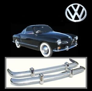 VW Karmann Ghia early 1956-1971 stainless steel bumpers, KG Type 14, brand new