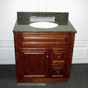 details about 30 inch bathroom vanity cabinet rich cherry finish new