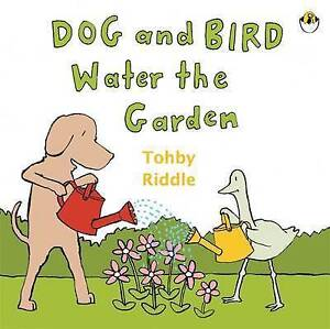 Dog & Bird Water The Garden Riddle, Tohby new,  priority freepost Australia wide