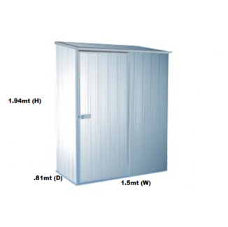 Garden Shed Silver 1.52mW X.81mD x1.94mH