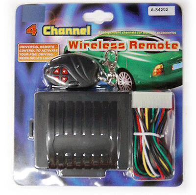 4 Channel Wireless Remote 12V light or strobe