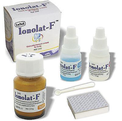Ionolat-f Dental Permanent Glass Ionomer Cement Crown Bridge Luting 20 G 15 Ml