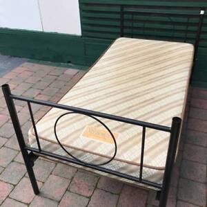 Excellent metal frame single bed set for sale. Delivery available Kingsbury Darebin Area Preview
