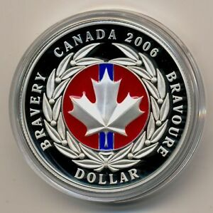 2006 Silver Red Enamel Medal of Bravery Coin West Island Greater Montréal image 1