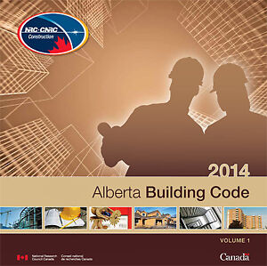 Alberta Building Code 2014 V1 & V2  (Used) in excellent cond.